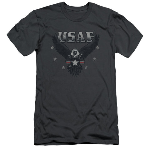 AIR FORCE/INCOMING-S/S ADULT 30/1-CHARCOAL-XL T-Shirt - Societee Norms
