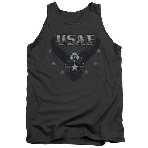 AIR FORCE/INCOMING-ADULT TANK-CHARCOAL-LG T-Shirt - Societee Norms
