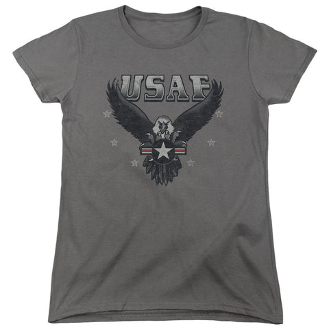 AIR FORCE/INCOMING-S/S WOMEN'S TEE-CHARCOAL-XL T-Shirt - Societee Norms