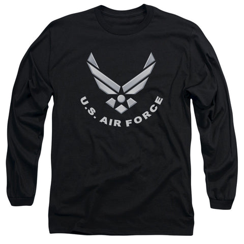 AIR FORCE/LOGO-L/S ADULT 18/1-BLACK-SM T-Shirt - Societee Norms