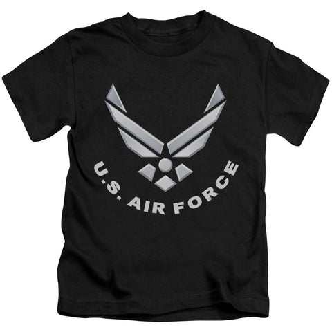 AIR FORCE/LOGO-S/S JUVENILE 18/1-BLACK-MD(5/6) T-Shirt - Societee Norms