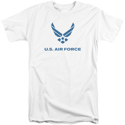 AIR FORCE/DISTRESSED LOGO-S/S ADULT TALL-WHITE-XL T-Shirt - Societee Norms