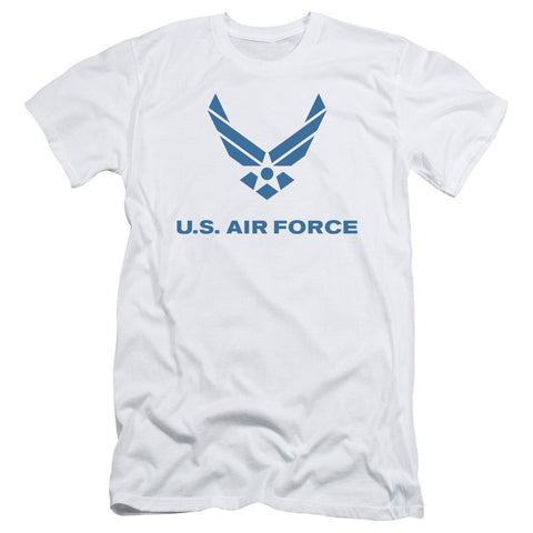 AIR FORCE/DISTRESSED LOGO-S/S ADULT 30/1-WHITE-XL T-Shirt - Societee Norms