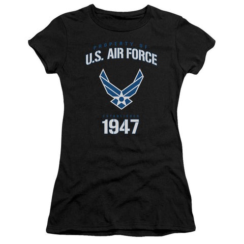 AIR FORCE/PROPERTY OF-S/S JUNIOR SHEER-BLACK-MD T-Shirt - Societee Norms