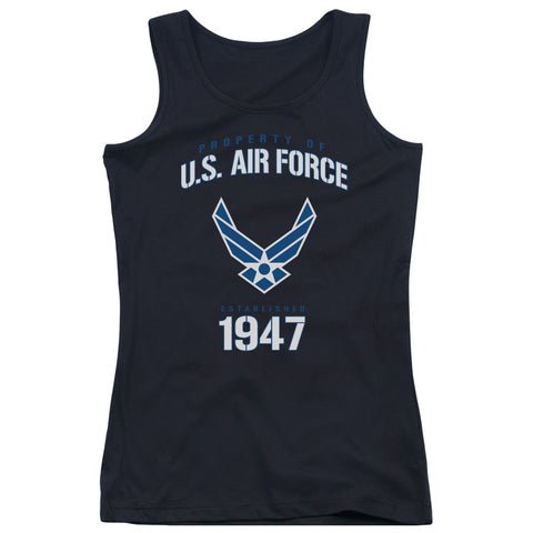 AIR FORCE/PROPERTY OF - JUNIORS TANK TOP - BLACK - 2X T-Shirt - Societee Norms