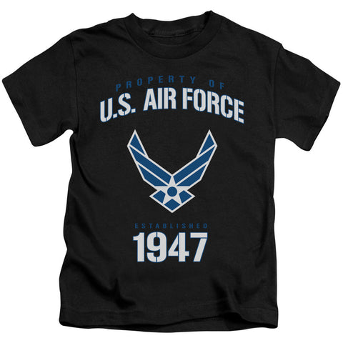 AIR FORCE/PROPERTY OF-S/S JUVENILE 18/1-BLACK-MD(5/6) T-Shirt - Societee Norms