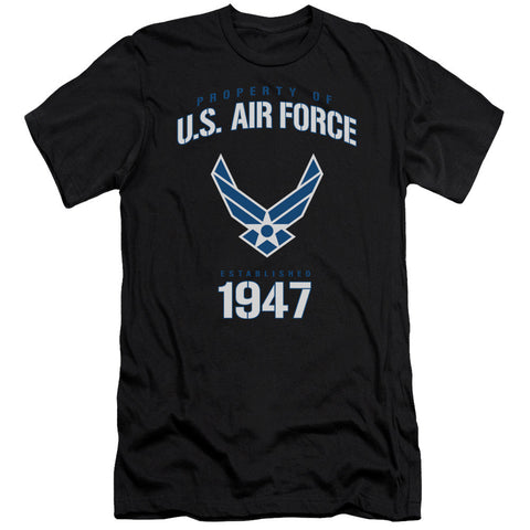 AIR FORCE/PROPERTY OF-S/S ADULT 30/1-BLACK-2X T-Shirt - Societee Norms