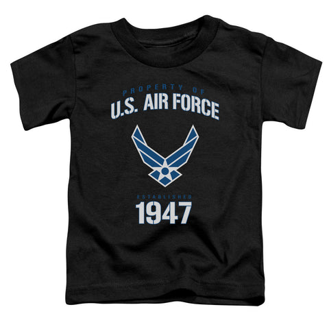 AIR FORCE/PROPERTY OF-S/S TODDLER TEE-BLACK-LG(4T) T-Shirt - Societee Norms