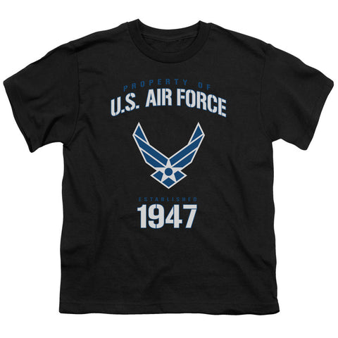 AIR FORCE/PROPERTY OF-S/S YOUTH 18/1-BLACK-MD T-Shirt - Societee Norms