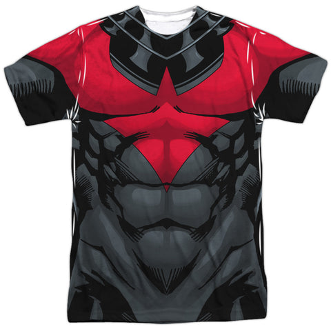 Batman - Nightwing (red) Costume Tee T-Shirt - Societee Norms - 1