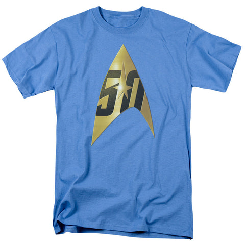 Star Trek 50th Anniversary - Delta (blue) T-Shirt - Societee Norms - 1