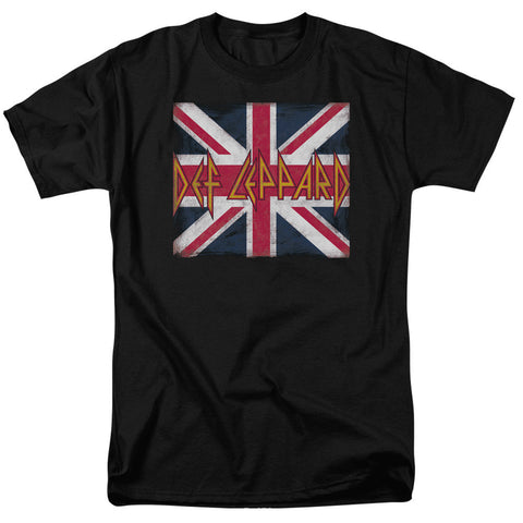 Def Leppard - Union Jack Logo T-Shirt - Societee Norms - 1