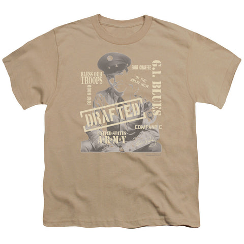 ELVIS/UPPER GI - S/S YOUTH 18/1 - SAND - SM T-Shirt - Societee Norms