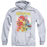 FRAGGLE ROCK/GROUP HUG-ADULT PULL-OVER HOODIE-ATHLETIC HEATHER-SM T-Shirt - Societee Norms - 1