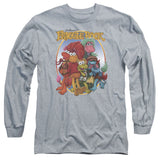 FRAGGLE ROCK/GROUP HUG-ADULT PULL-OVER HOODIE-ATHLETIC HEATHER-SM T-Shirt - Societee Norms - 2