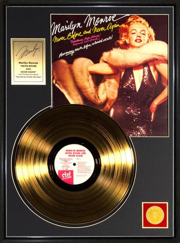 "Marilyn Monroe ""Never Before...""  Framed Gold Record T-Shirt - Societee Norms"