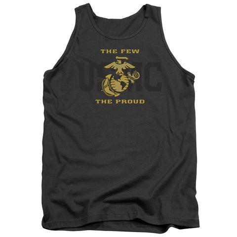 US MARINE CORPS/SPLIT TAG-ADULT TANK-CHARCOAL-SM