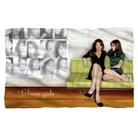 Gilmore Girls - Sitting on Couch Fleece Blanket T-Shirt - Societee Norms