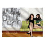 Gilmore Girls - Sitting on Couch Pillow Case T-Shirt - Societee Norms