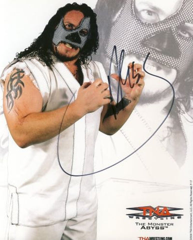 Abyss - Autographed TNA 8x10 Photo - maniacjoe