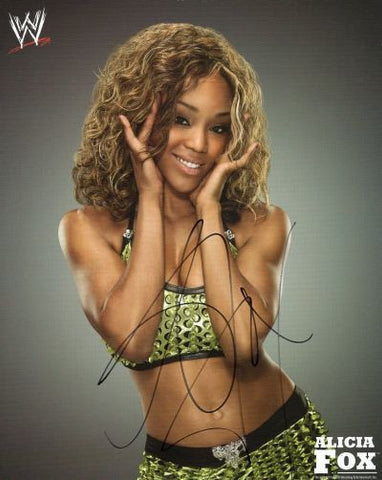 Alicia Fox - Autographed WWE 8x10 Photo - maniacjoe