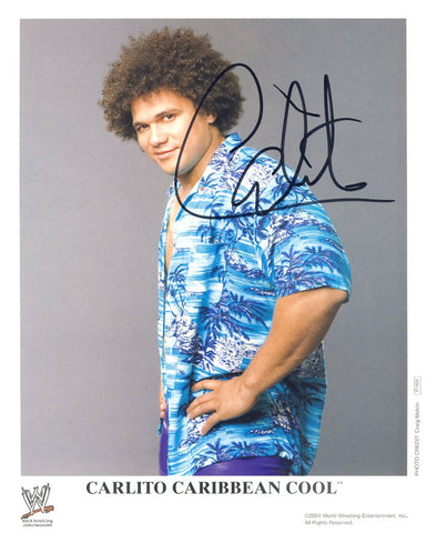 Carlito - Autographed WWE Promo Photo