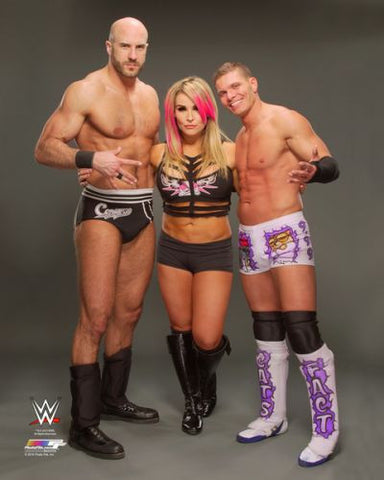 Cesaro, Tyson Kidd, and Natalya - WWE Photo