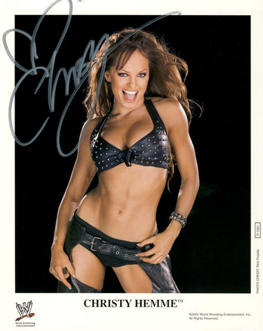 Christy Hemme - Autographed WWE 8x10 Promo Photo