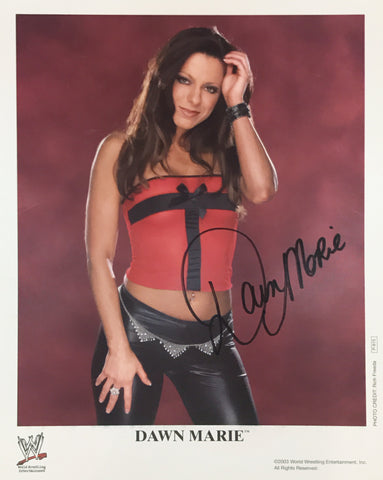 Dawn Marie - Autographed WWE 8x10 Promo Photo