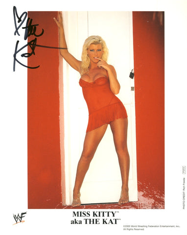 The Kat aka Miss Kitty- Autographed WWF 8x10 Promo Photo