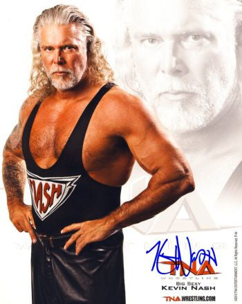 kevin nash diesel autographed tna promo photo 2 llc. Black Bedroom Furniture Sets. Home Design Ideas