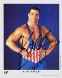 Kurt Angle - Autographed WWF Promo Photo