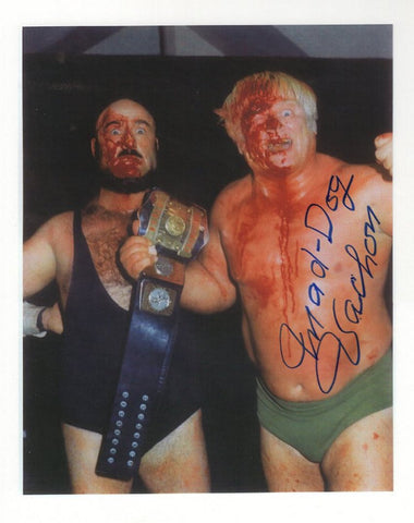 Maurice Mad Dog Vachon - Autographed 8x10 Promo Photo