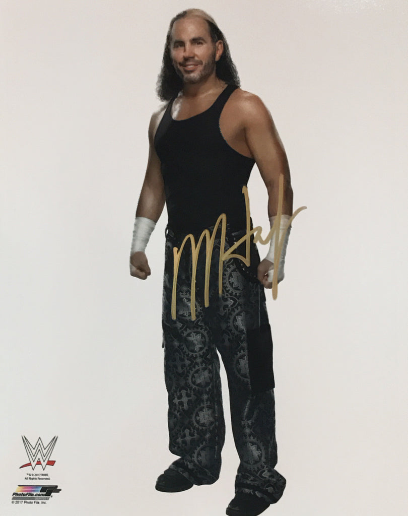matt hardy autographed wwe 8x10 photo llc. Black Bedroom Furniture Sets. Home Design Ideas