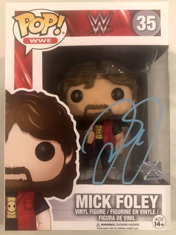 Mick Foley  - Autographed WWE Funko Pop Vinyl Figure