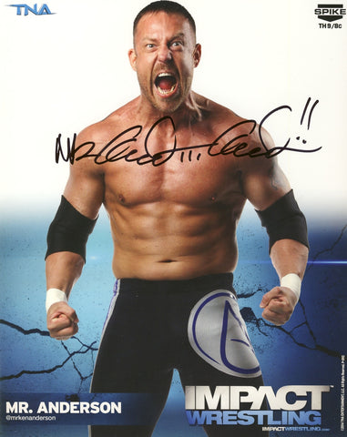 Mr Anderson - Autographed TNA 8x10 Promo Photo