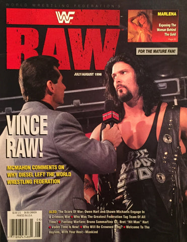 WWF Raw Magazine - July / August 1996