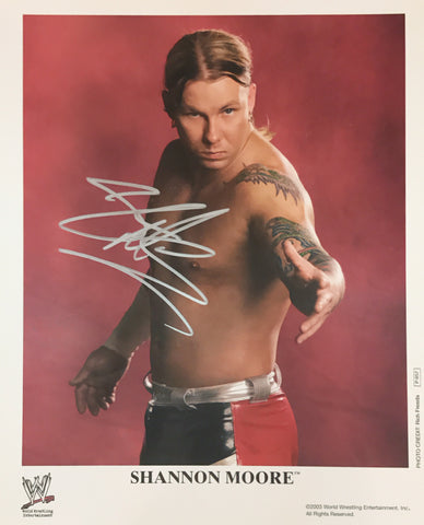 Shannon Moore - Autographed WWE 8x10 Promo Photo