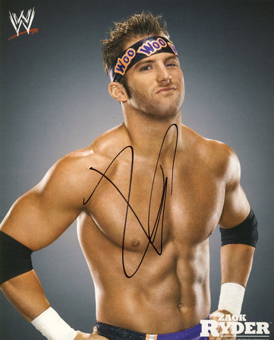 Zack Ryder - Autographed WWE 8x10 Promo Photo