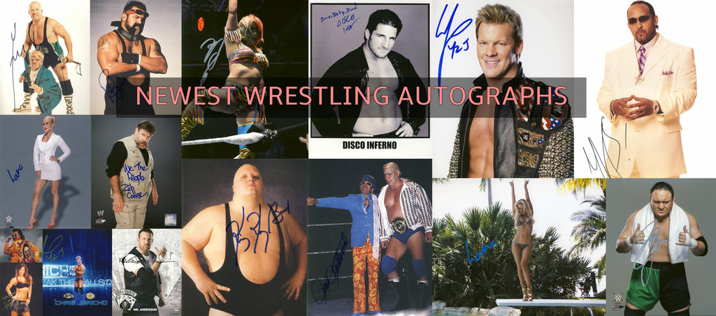 Newest Wrestling Autographs