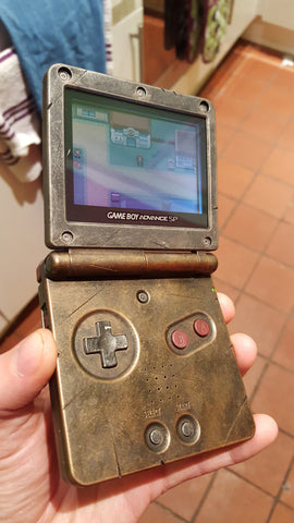 Steampunk / Wasteland Rustic Game Boy Advance sp - Brass