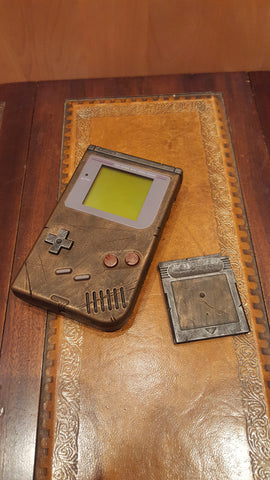 Steampunk / Wasteland Rustic Game Boy DMG original - Brass