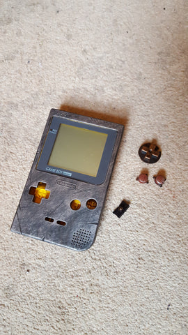 Steampunk / Wasteland Rustic Game Boy Pocket - Case only