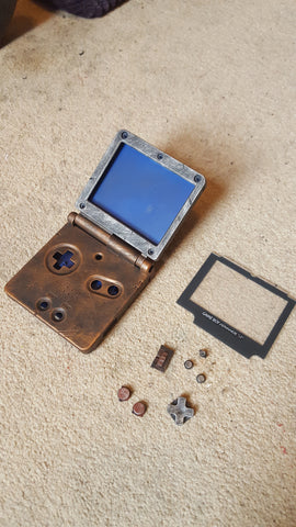 Steampunk / Wasteland Rustic Game Boy Advance SP - Case only