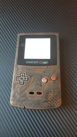 Steampunk / Wasteland Rustic Game Boy Colour - Full console