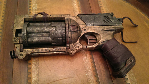 Cosplay prop. Steampunk / Wasteland gun - Nerf Maverick, Gold