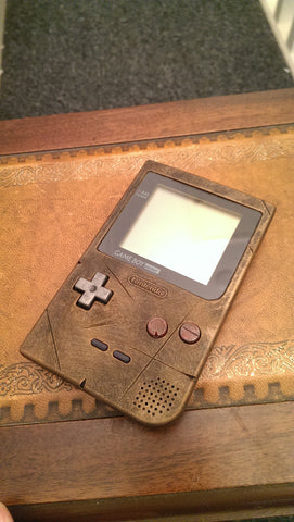 Steampunk / Wasteland Rustic Game Boy Pocket - Brass