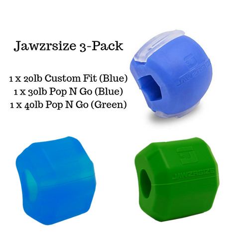 "3 Pack - 20lb Blue ""Custom Fit"" / 30lb Blue ""Pop N Go""/ 40lb Green ""Pop N Go"""