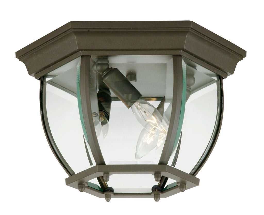 Savoy House - 07038-BZ - Three Light Flush Mount - Exterior Collections - Bronze