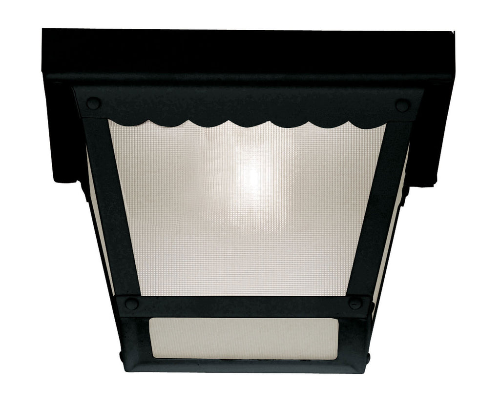 Savoy House - 07044-BLK - One Light Flush Mount - Exterior Collections - Black